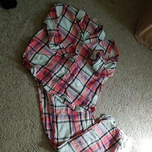 Victoria's secret plaid flannel pjs